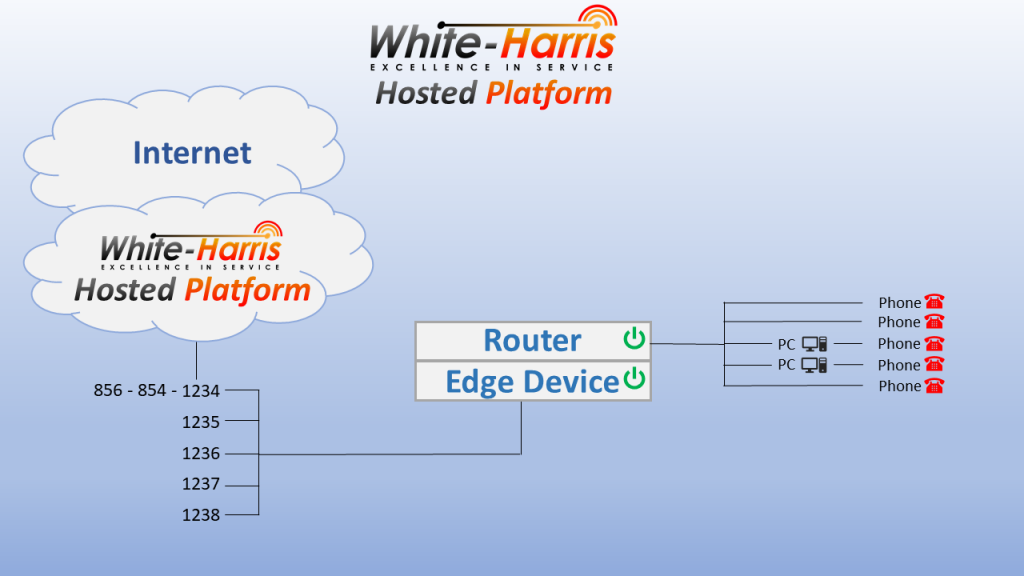 Hosted VoIP Topology Concept