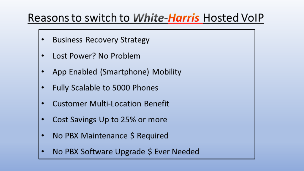 White-Harris Hosted VoIP Reasons
